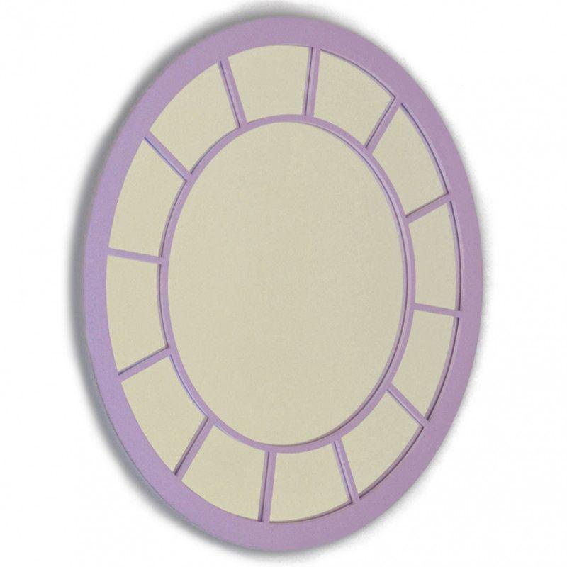 Espejo cuadrado interior circular