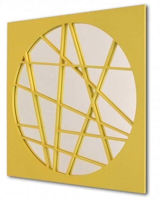 Espejo cuadrado esfera cubista