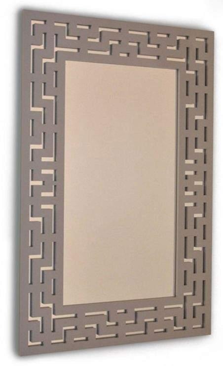 Espejo rectangular en vertical estilo laberinto