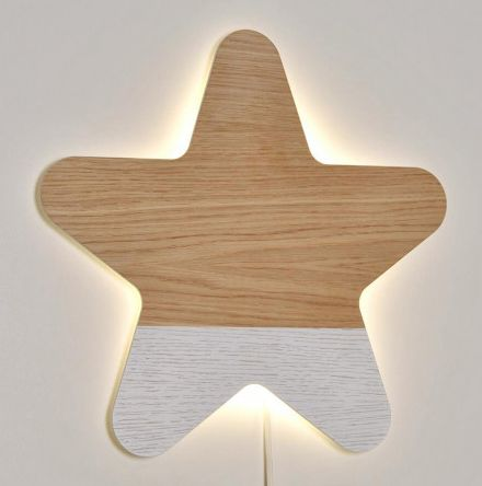 Lámpara de pared estrella WOOD