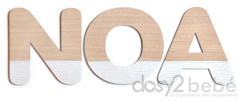 Letras de madera natural y lacadas en cualqueir color