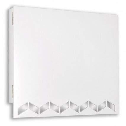 Tapacontador troquelado con forma de zig zag lacado en blanco